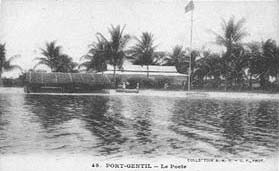 Le Poste de Port-Gentil - Photo : http://postcardman.net